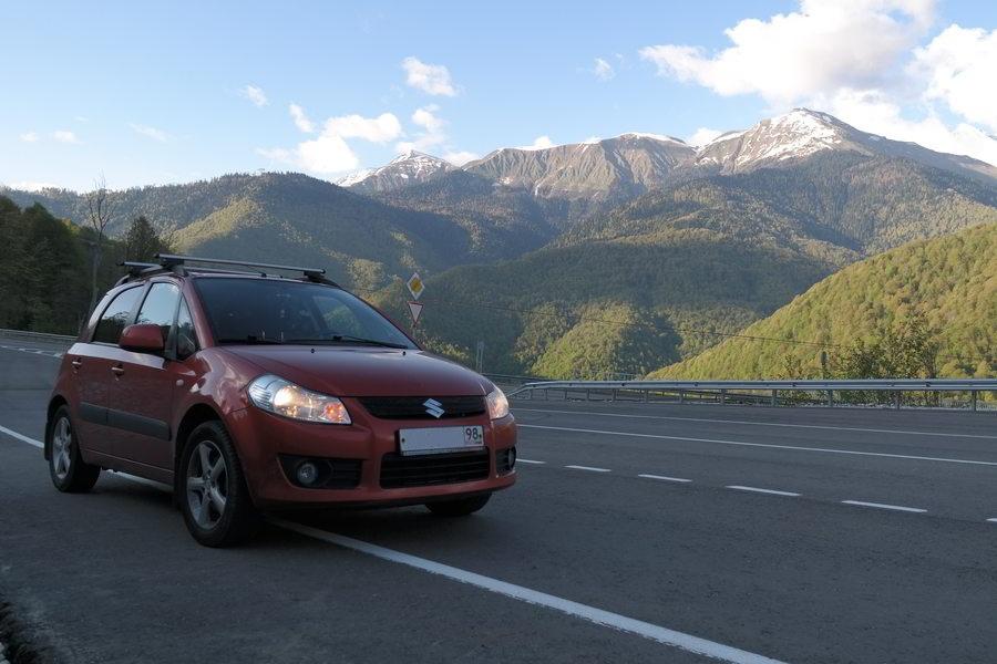 Красная Поляна. Альпийское шоссе. Высота 1100 метров
