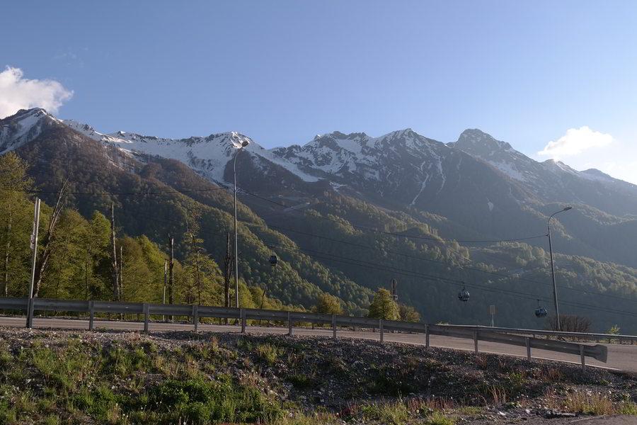 Красная Поляна. Альпийское шоссе. Вид на Аибгу.