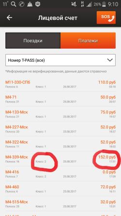 Платные участки трассы М4 Дон