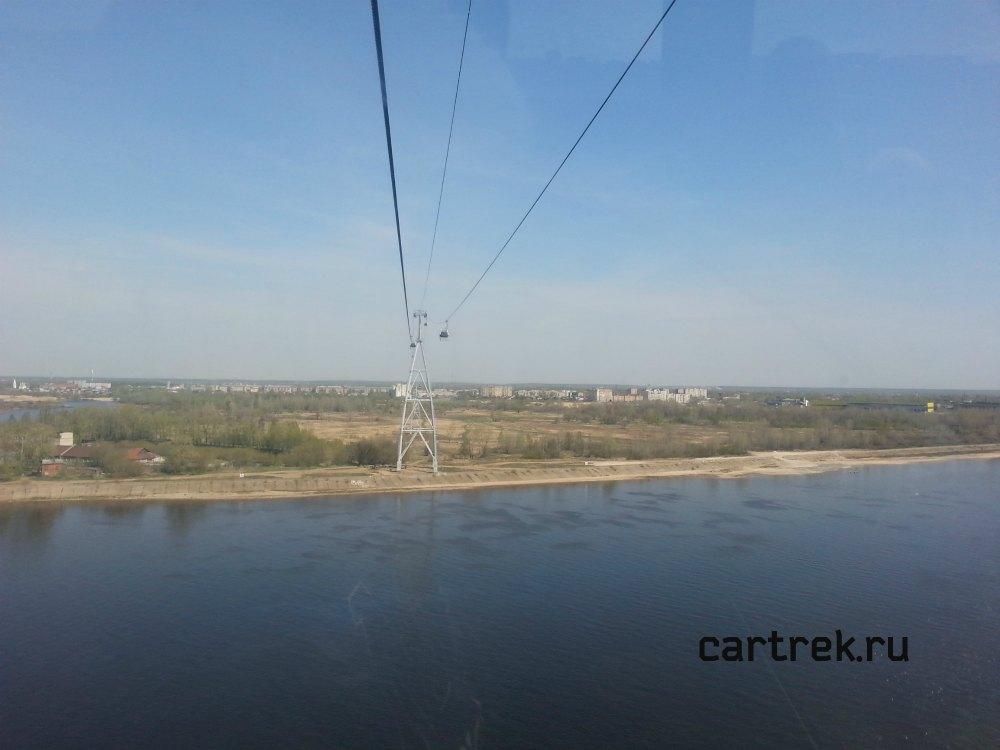 Канатная дорога через Волгу. Нижний Новгород.