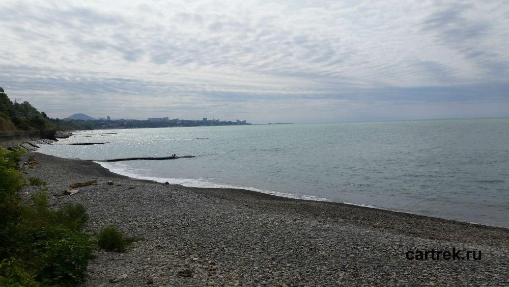 Дикий пляж Дагомыс