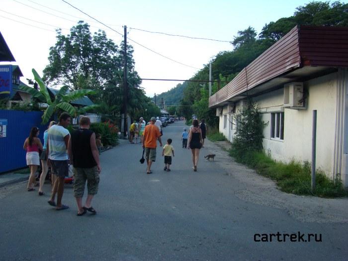 Фотография Ленинградской улицы в Дагомысе