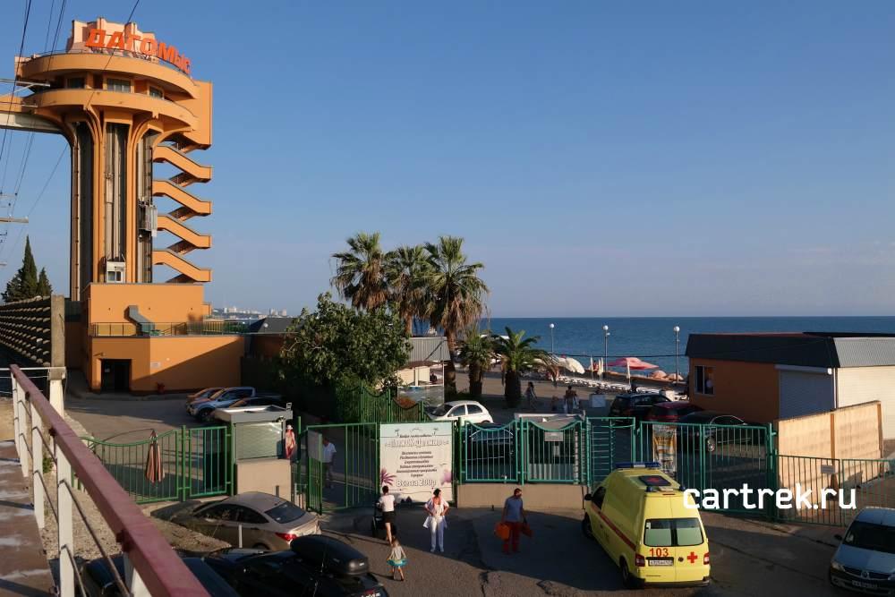 Вход на пляжи гостиниц: Дагомыс, Олимпийская, Меркурий