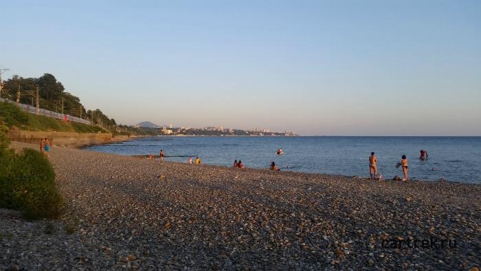 Явное преимущество перед городским пляжем, это отсутствие большого количества народа