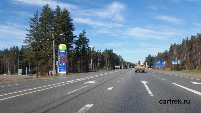 АЗС на трассе Скандинавия