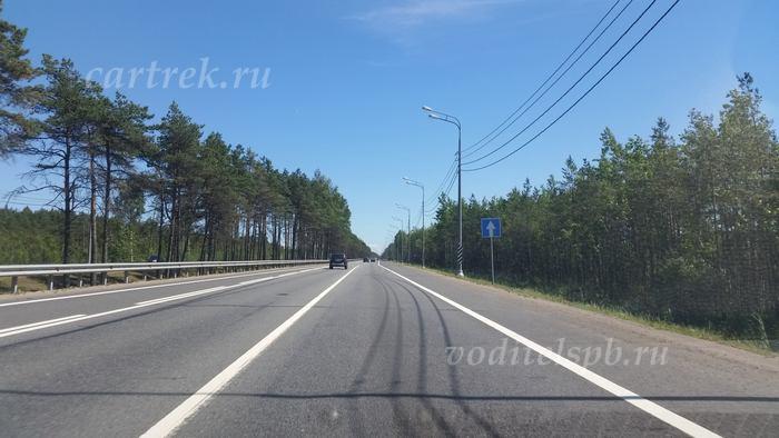Дорога до крепости на машине