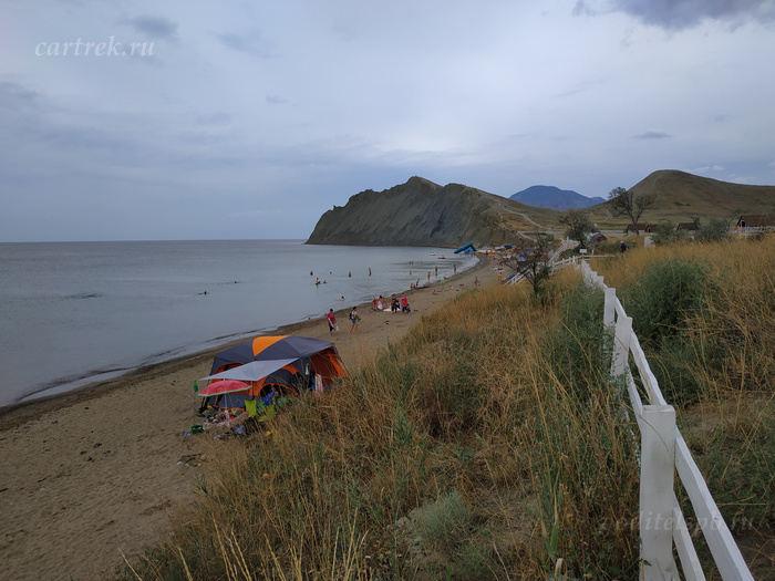 Пляж в Тихой бухте