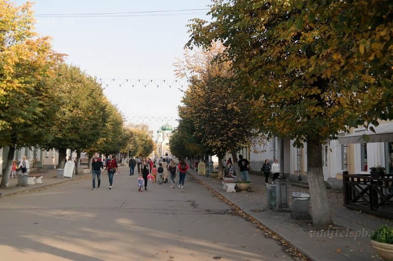 Соборная улица является пешеходной зоной